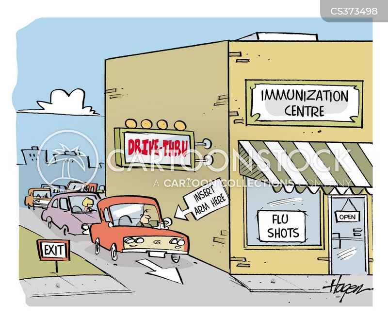 flu clinics cartoon