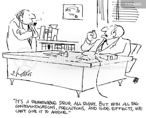 drug trial cartoon