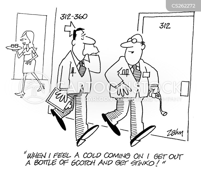 man cold cartoon