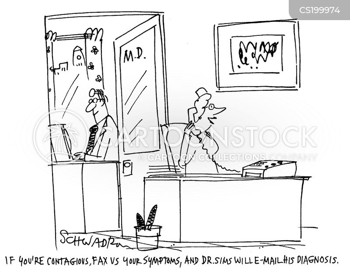 faxing cartoon
