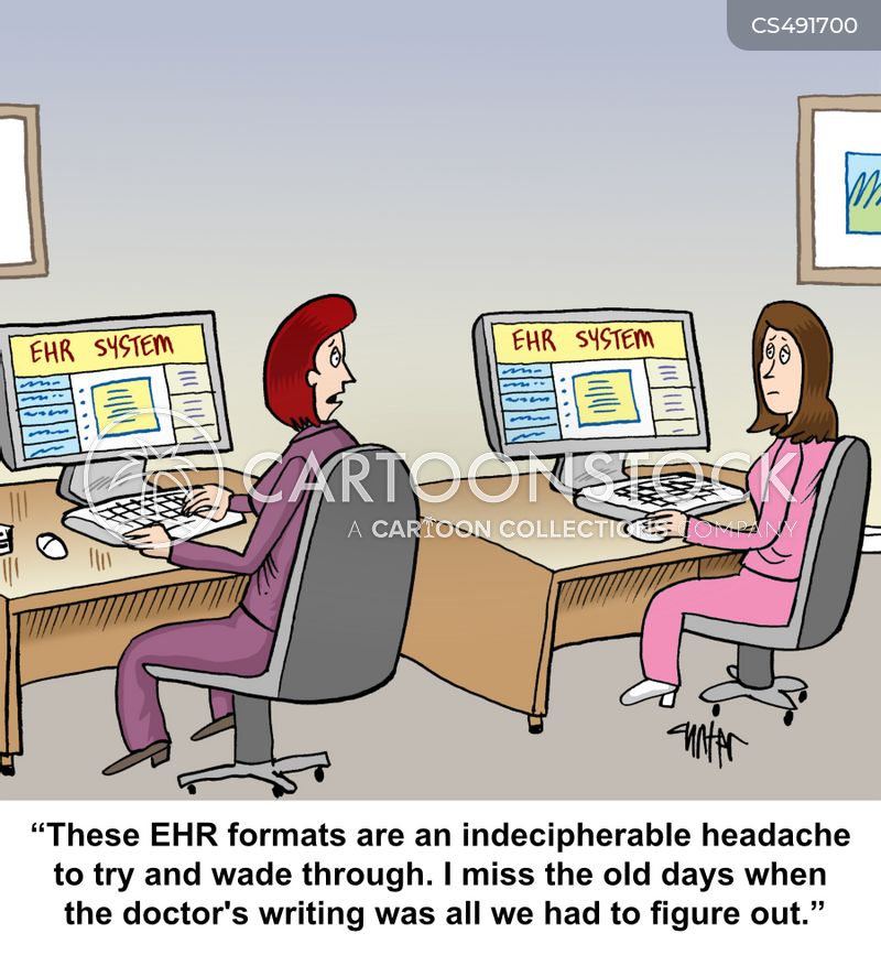 electronic health records cartoon