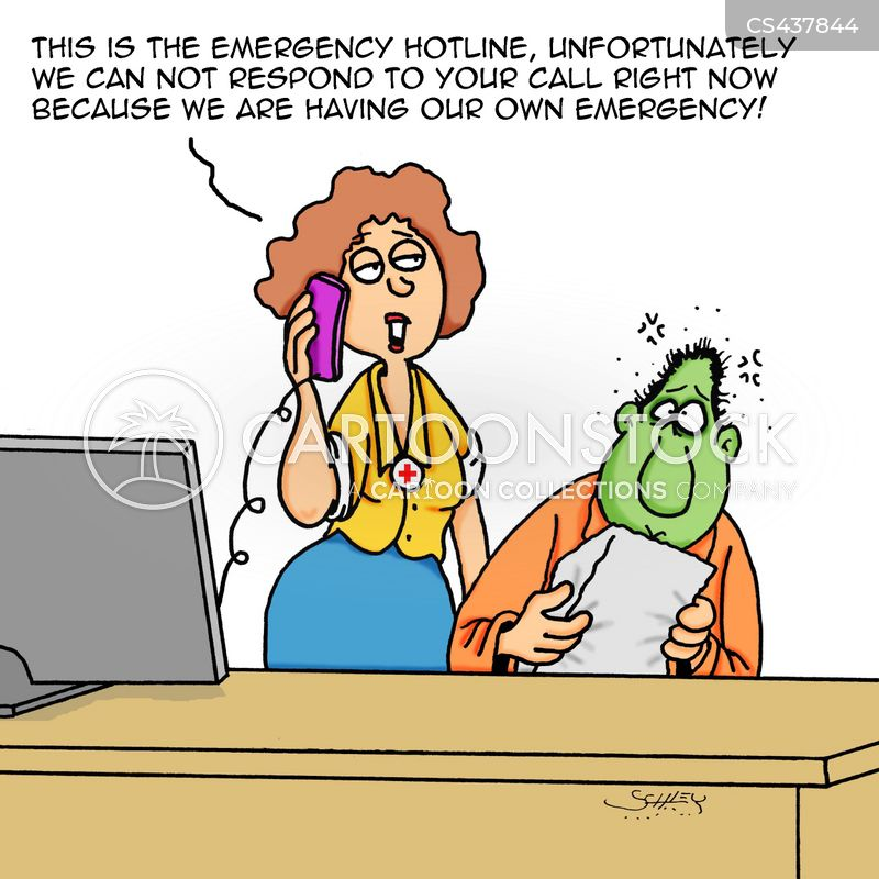 emergency lines cartoon