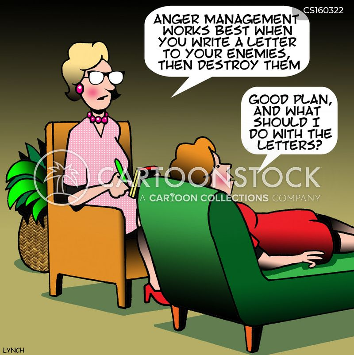 anger problem cartoon