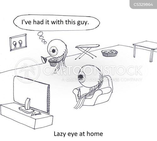 contact lense cartoon