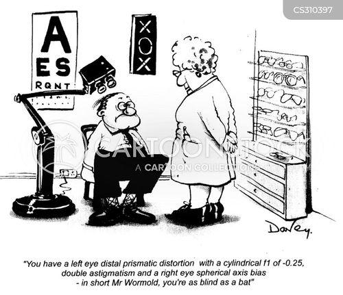 bad eyesight cartoon