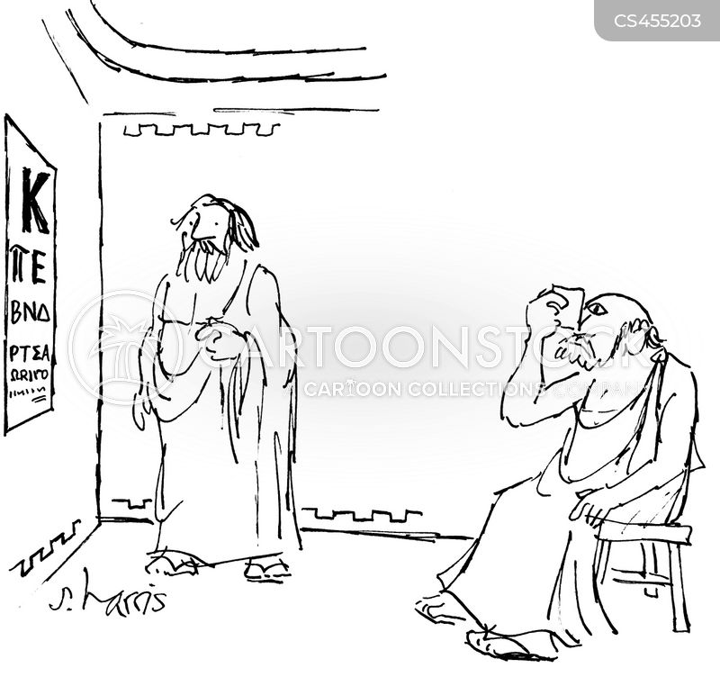 eye examinations cartoon