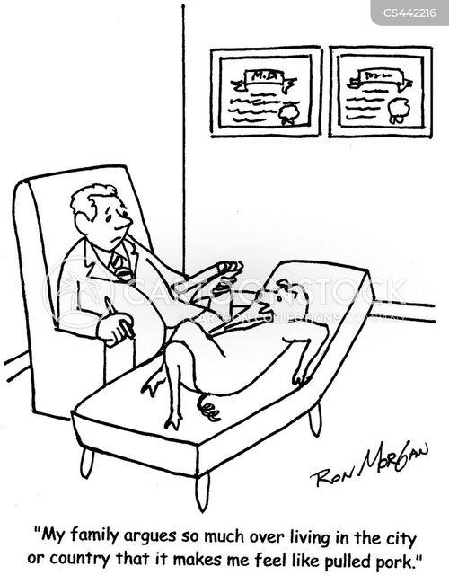 family conflict cartoon