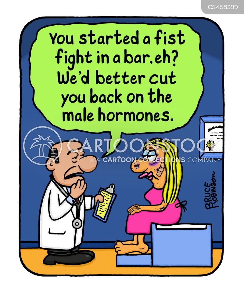 hormone treatment cartoon