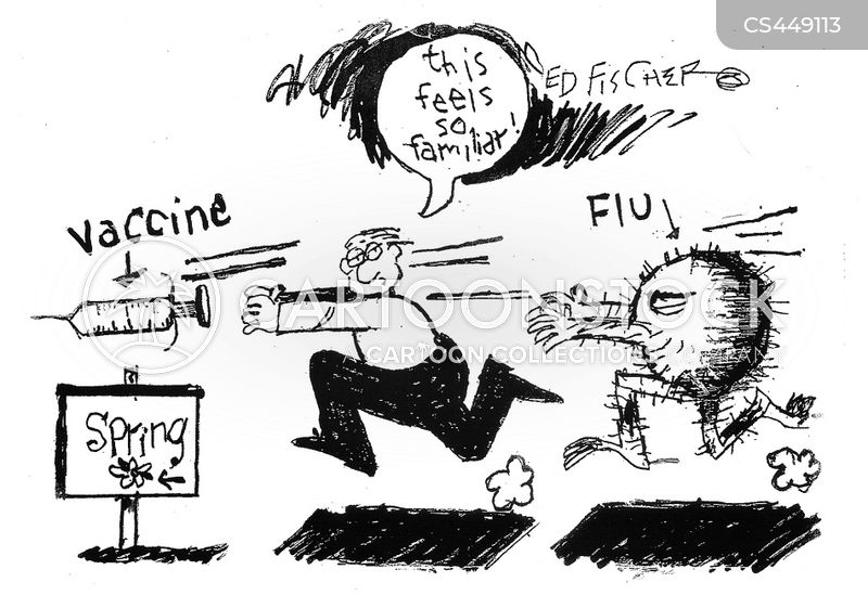 flu bug cartoon