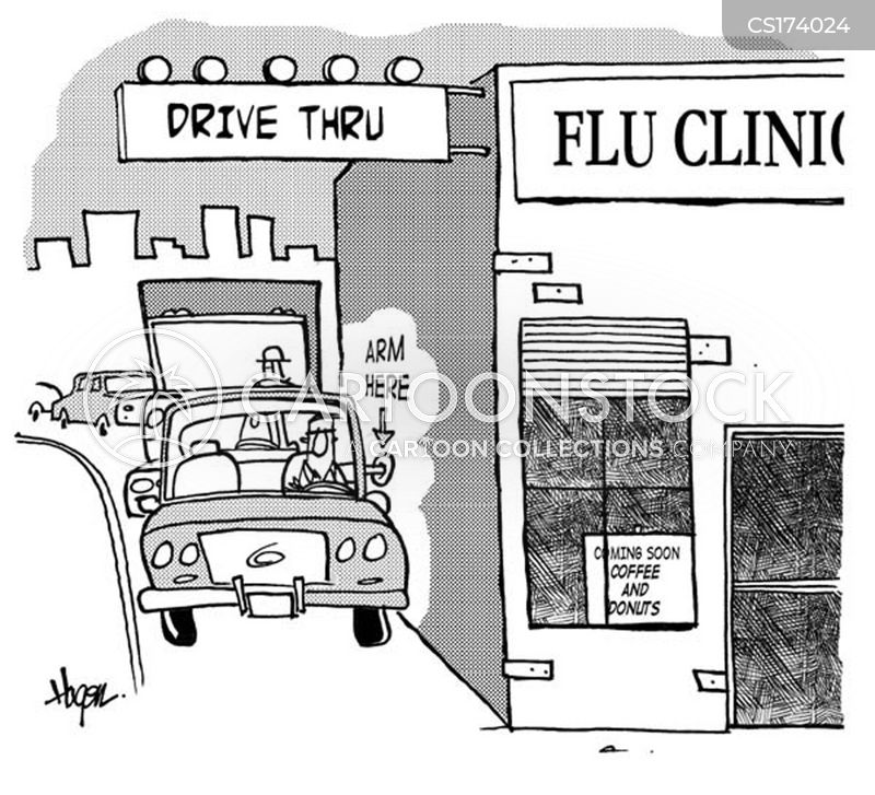 influenza outbreaks cartoon