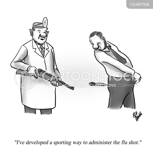 flu vaccination cartoon
