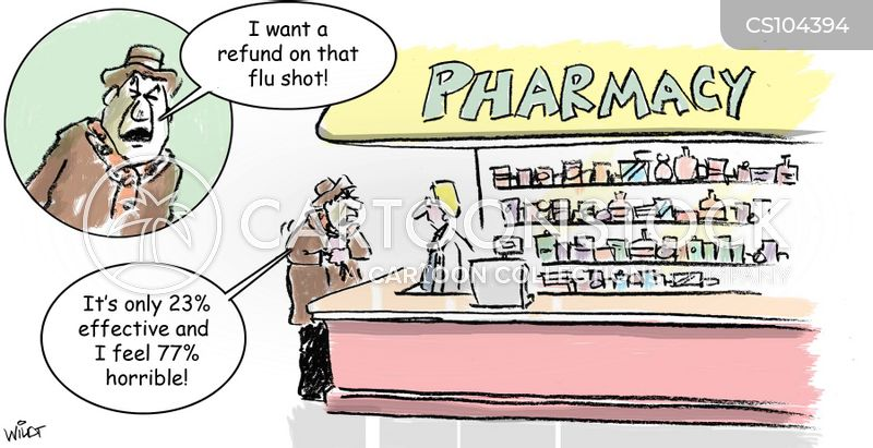 flu vaccines cartoon