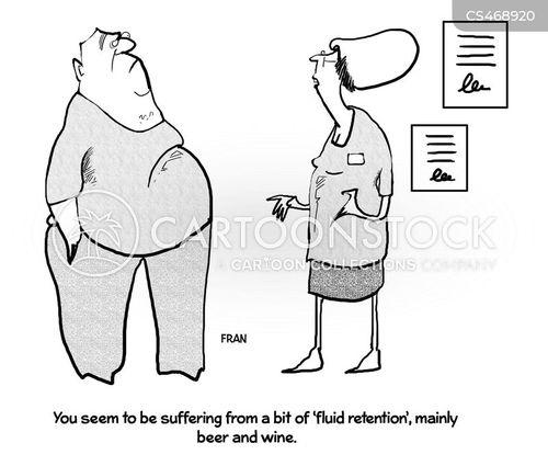fluid retention cartoon