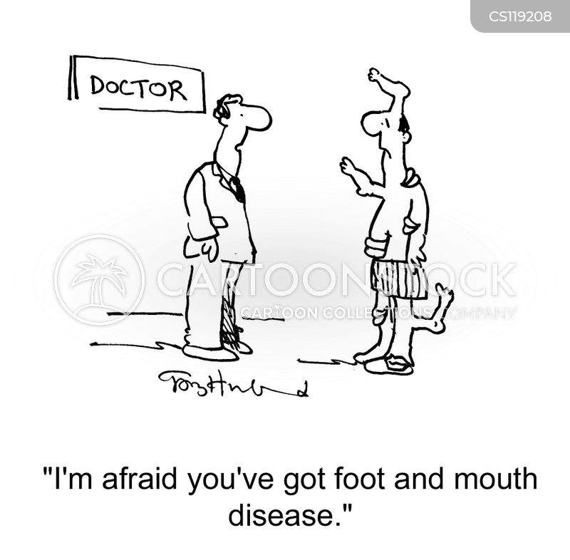 foot and mouth cartoon