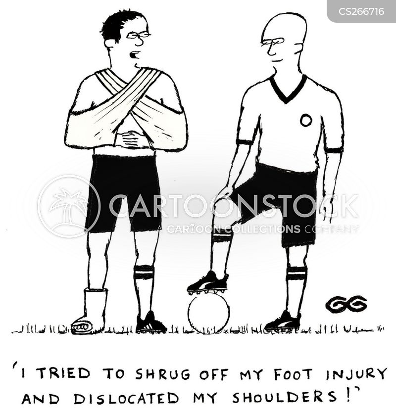 dislocated shoulder cartoon