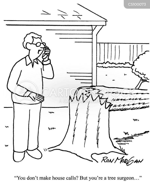 fallen trees cartoon