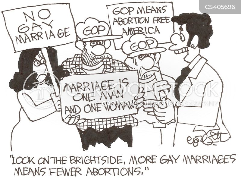 Comics on gay marriage