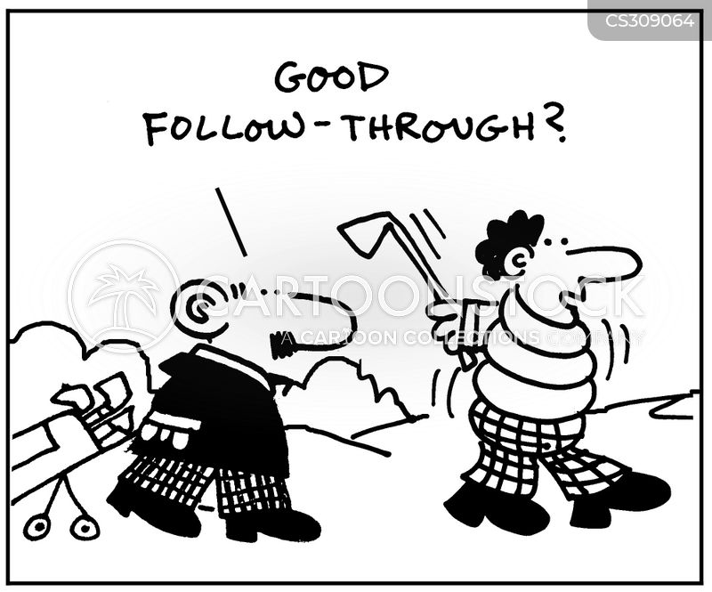 follow through cartoon
