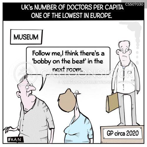 museum exhibition cartoon