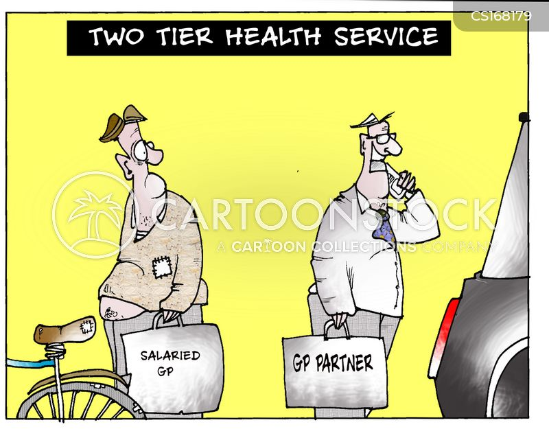 Image result for two tier health care cartoon
