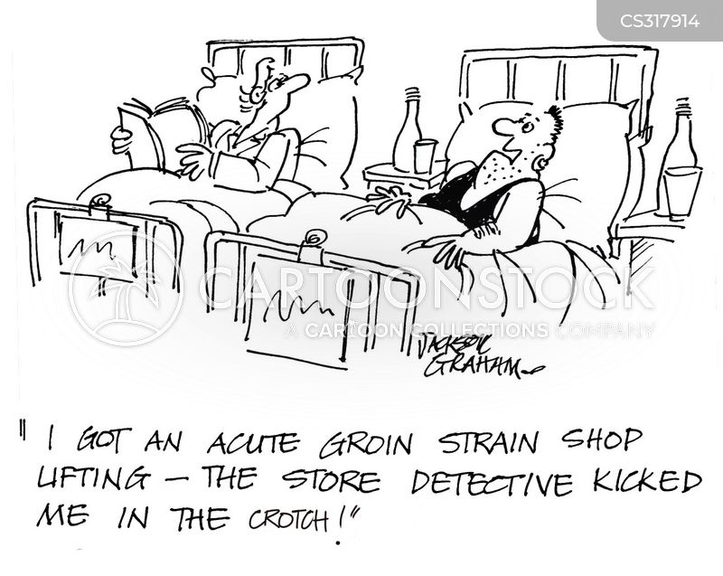 groin strain cartoon