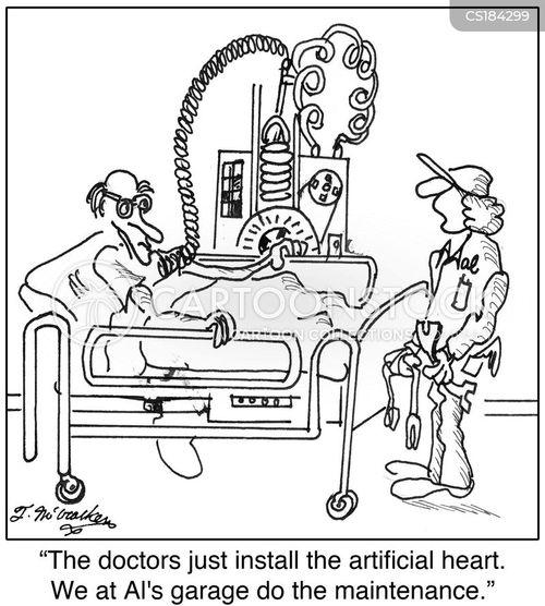 heart transplants cartoon