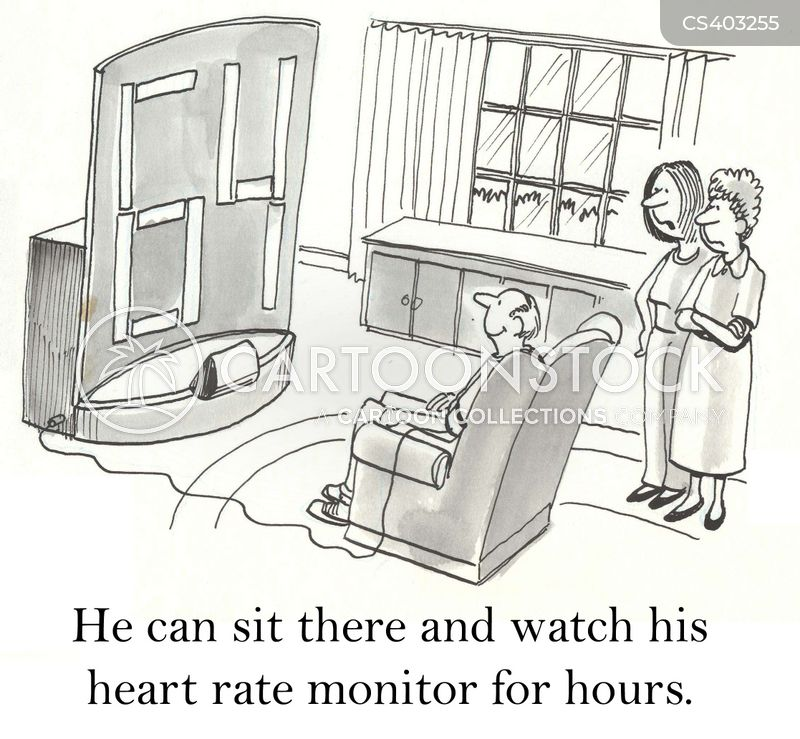 heart monitors cartoon