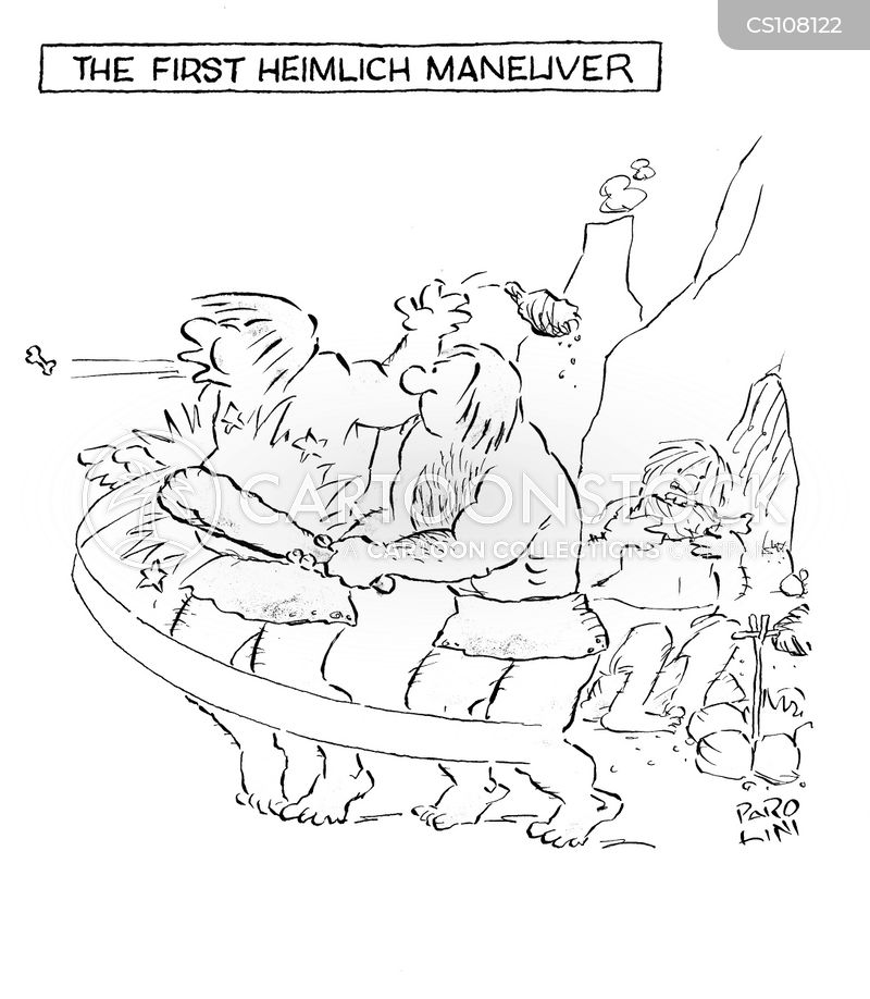 heimlich manoeuvre cartoon