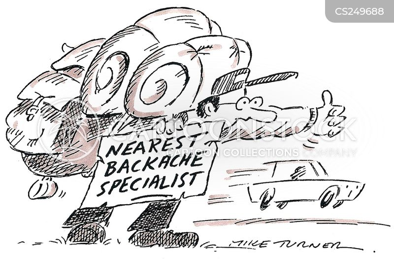 back specialists cartoon