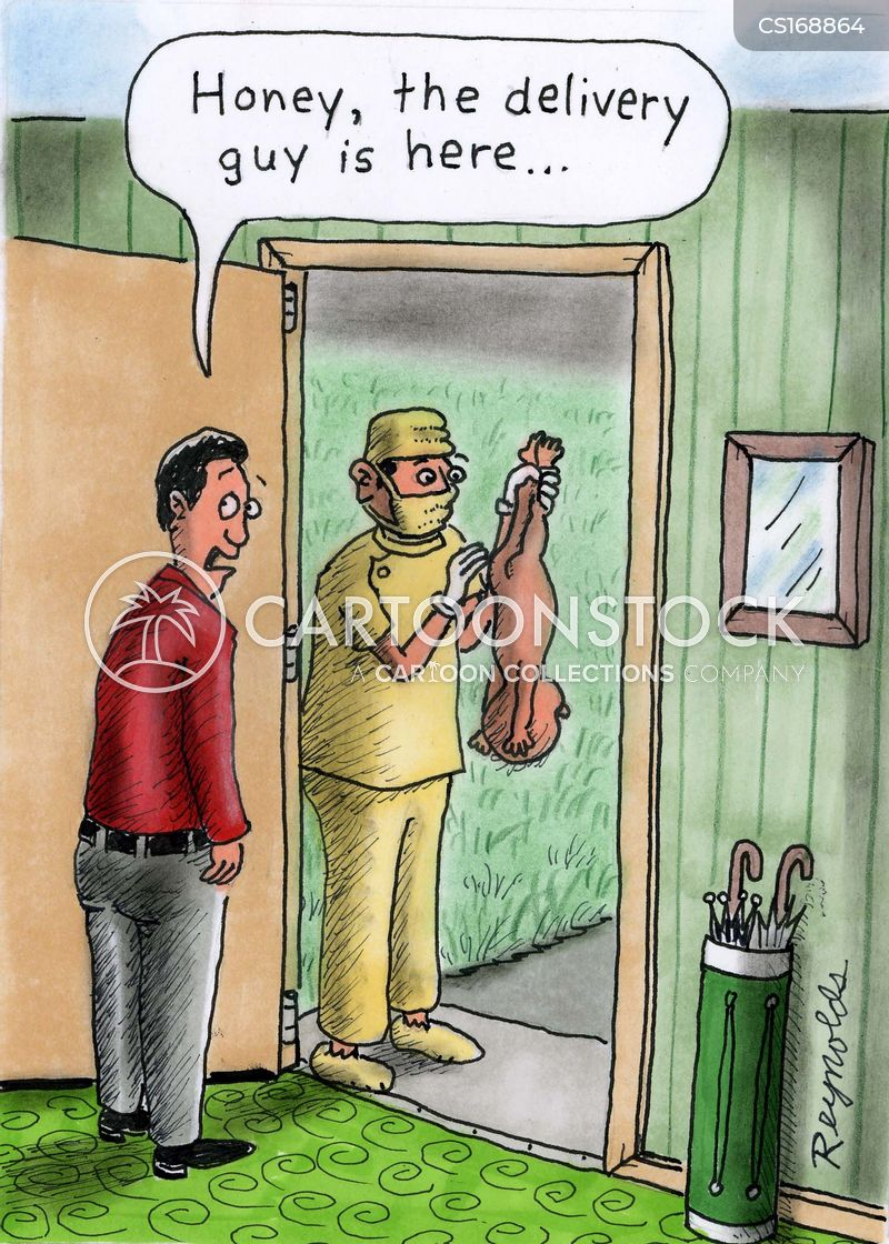 delivery man cartoon