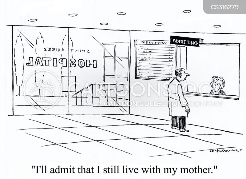 hospital admittance cartoon