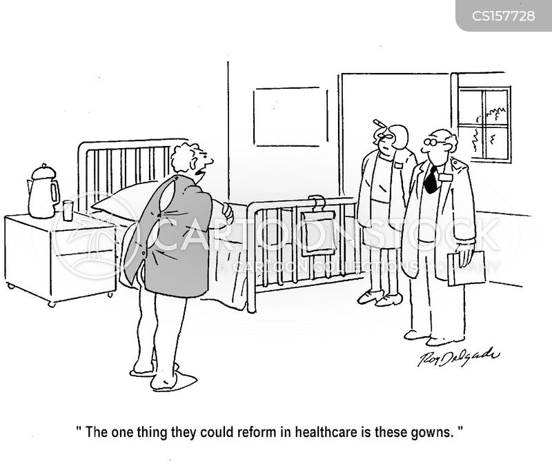 hospital gowns cartoon