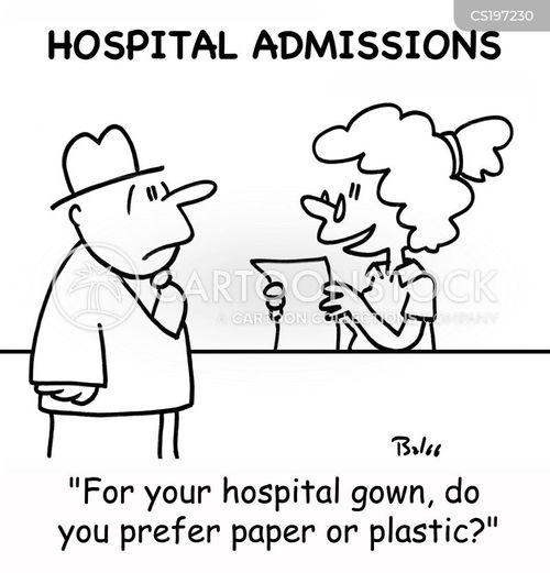 hospital admission cartoon