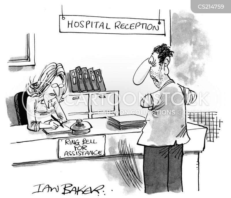 hospital reception cartoon