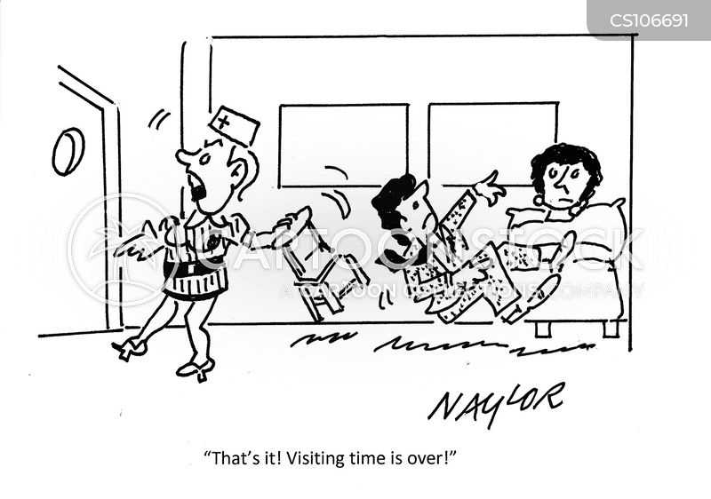 visiting time cartoon