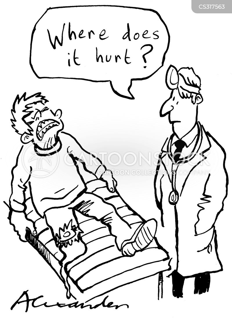 wounded cartoon