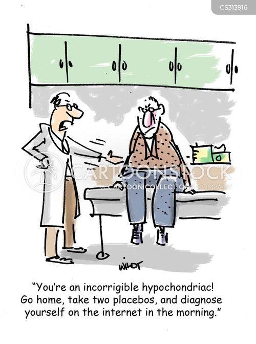 self-diagnose cartoon