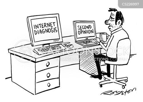internet diagnosis cartoon