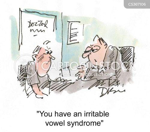 irritable vowel syndrome cartoon