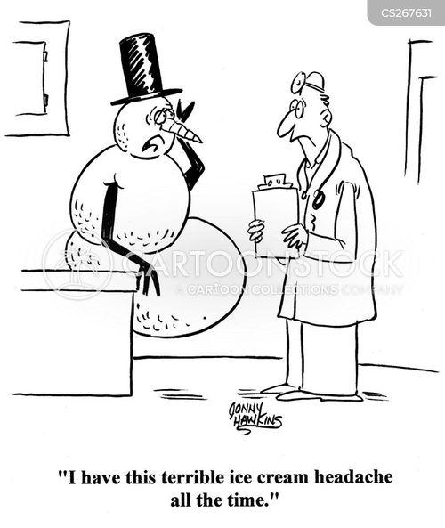 brain freeze cartoon