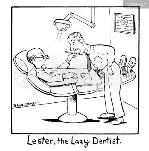 dentists chair cartoon