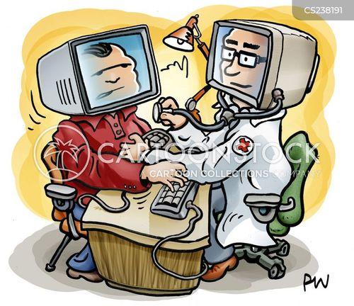 online diagnosis cartoon