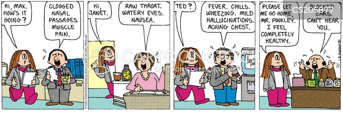 flus cartoon