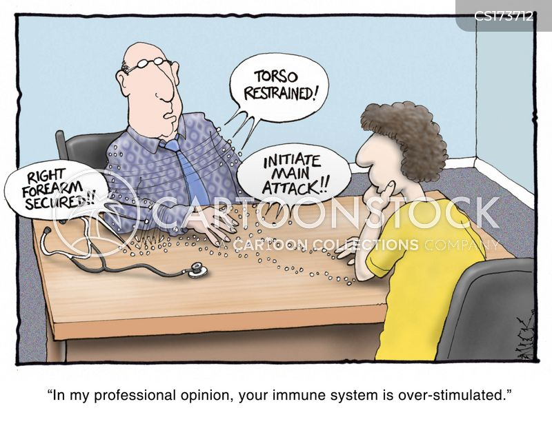immune system cartoon