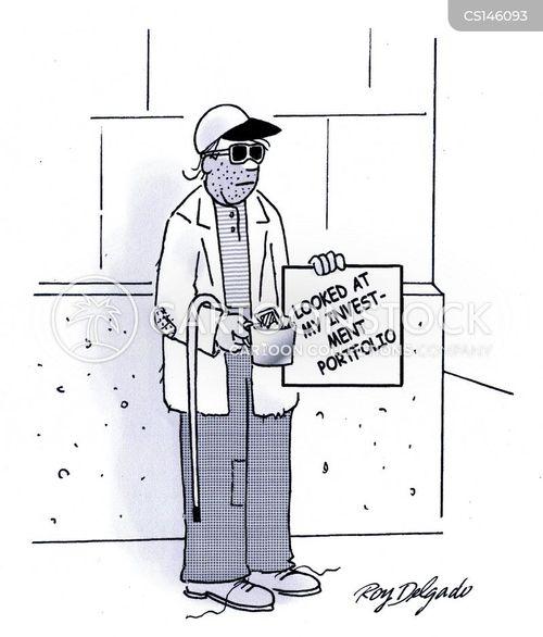investment portfolio cartoon