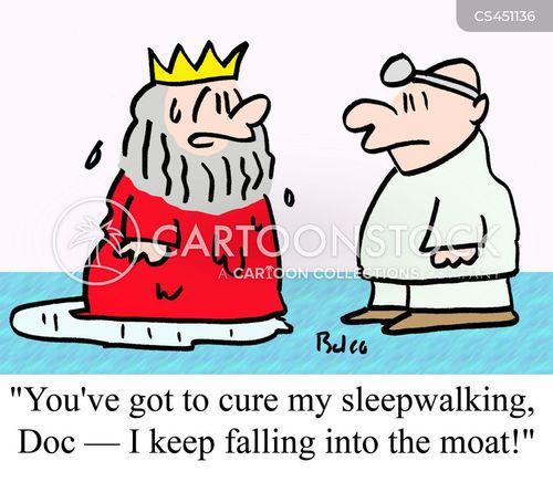 sleep walking cartoon