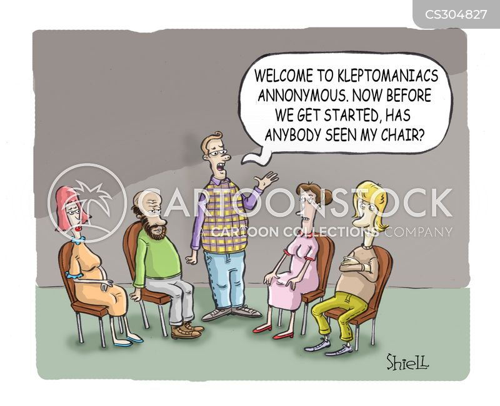 kleptomaniacs cartoon