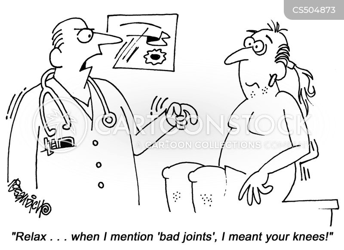 knee joints cartoon