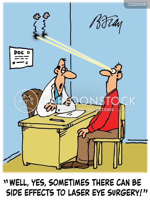 laser eye surgery cartoon
