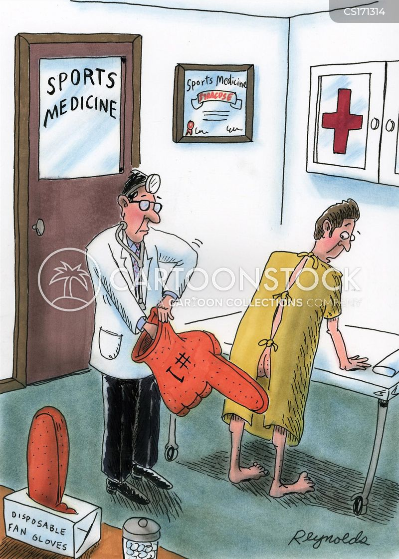 sports injuries cartoon